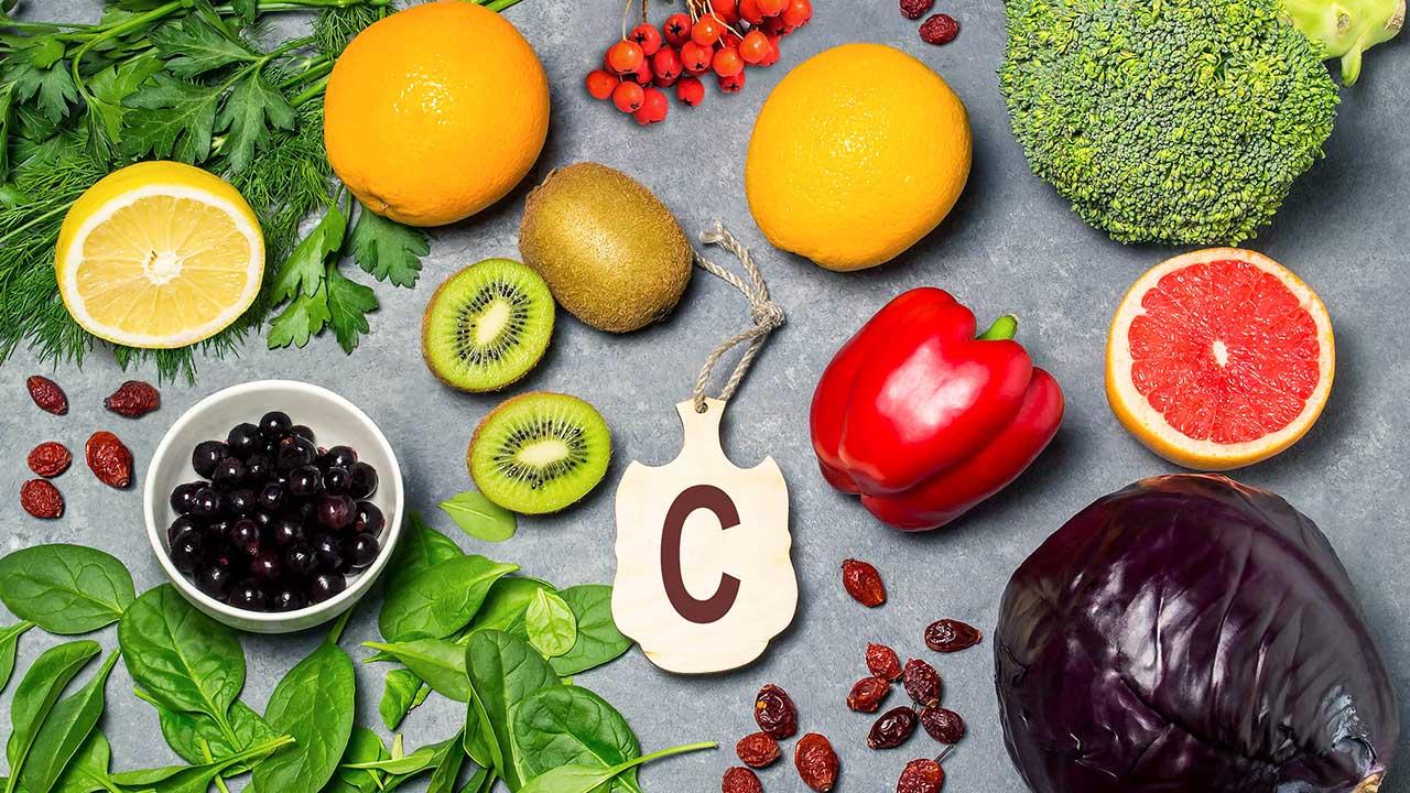 Früchte und Gemüse mit Vitamin C