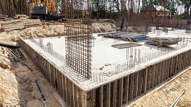 Fundament für ein Haus (c) 123rf