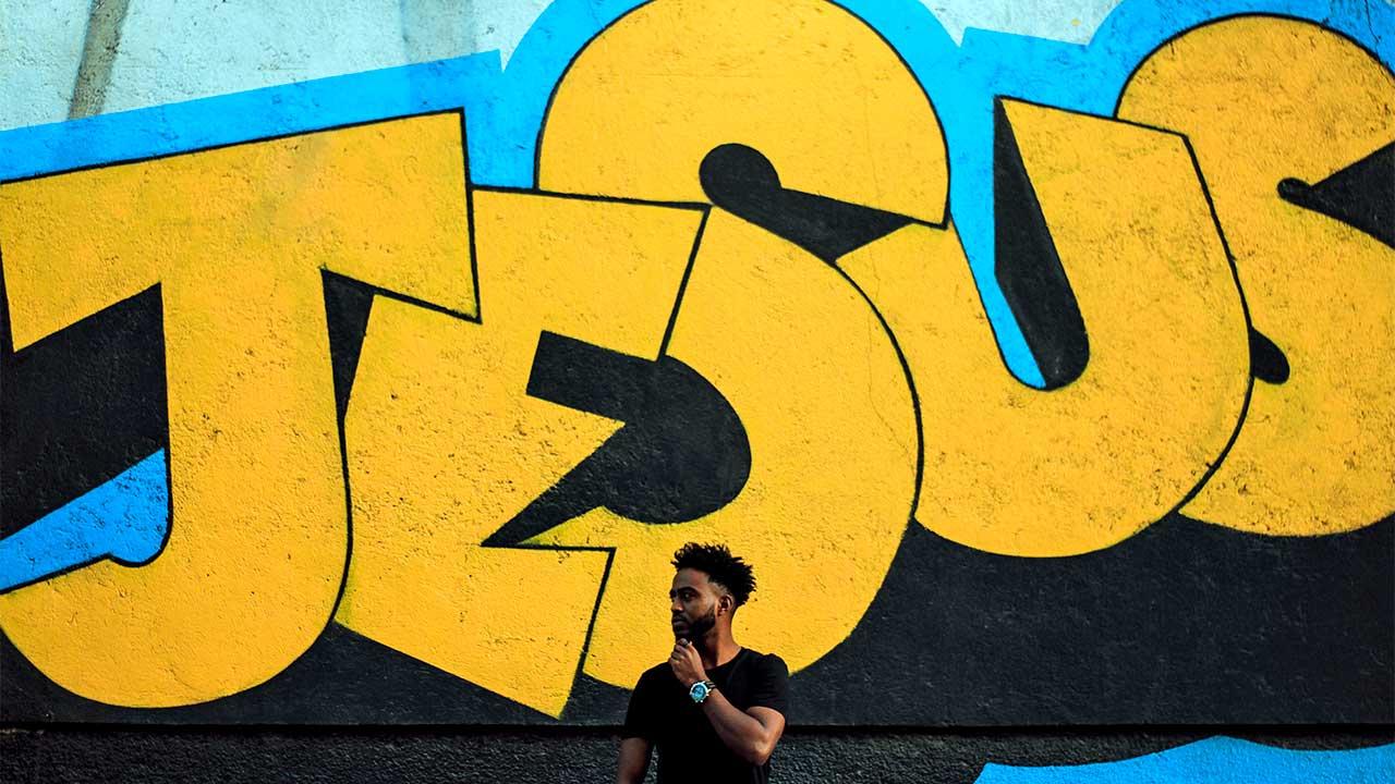 Grosses Jesus-Graffiti   (c) Gift Habeshaw/Unsplash