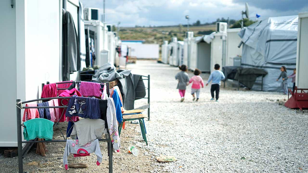 In einem Flüchtlingslager in Griechenland