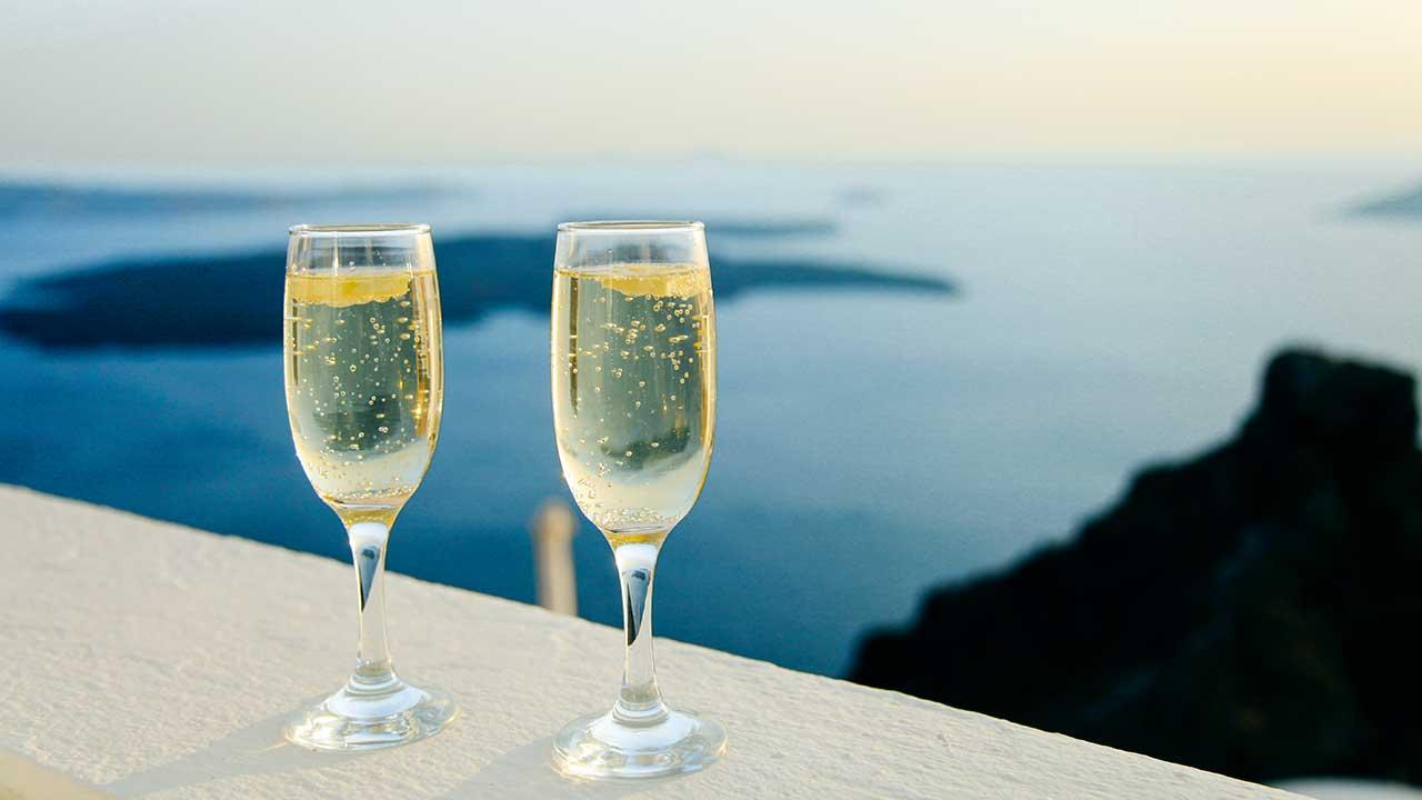 Santorin: Blick aufs Meer
