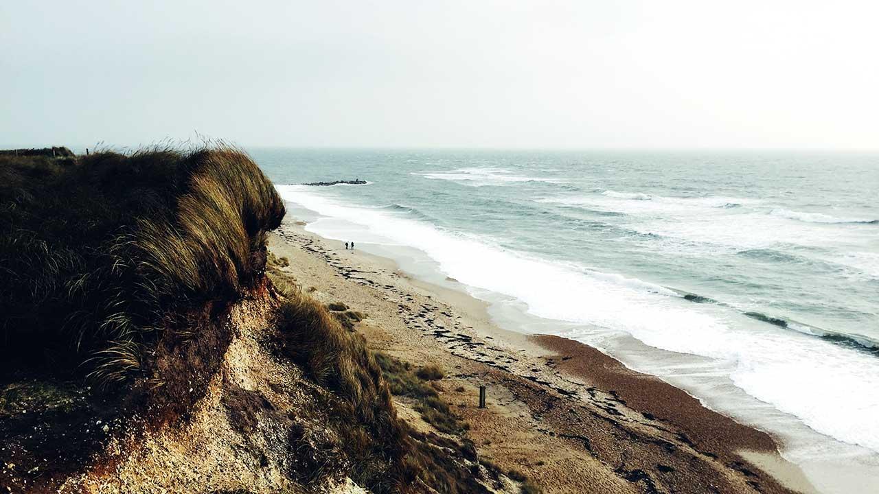 Englische Küste bei Bournemouth