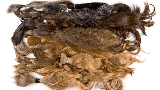 Haare für die Herstellung von Perücken