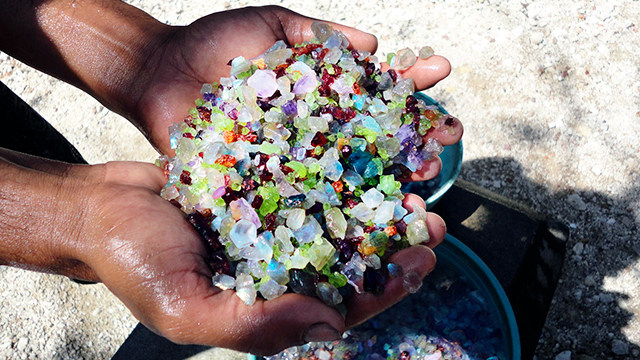 Abbau von Diamanten