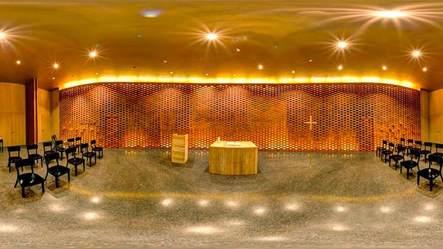 Das Innere der Kapelle von «HafenCity»
