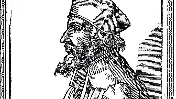Holzschnitt von Jan Hus