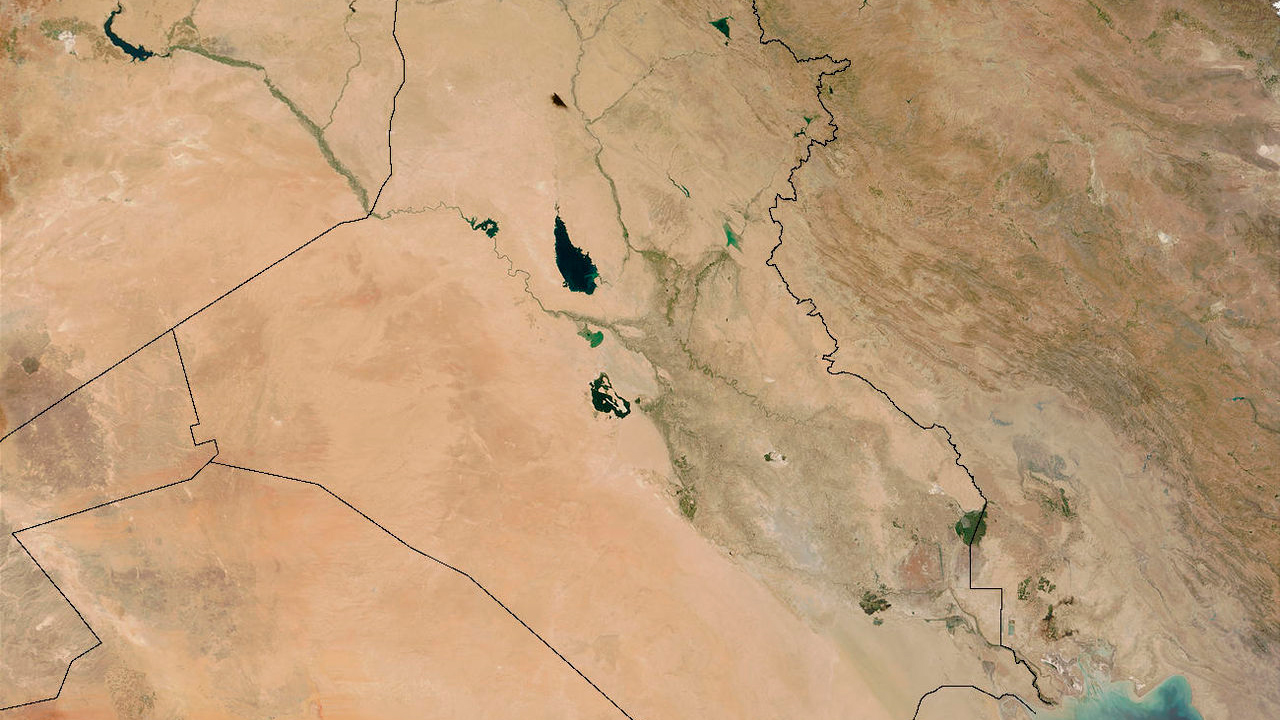 Satellitenbild vom Irak