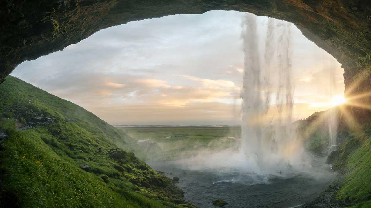 Seljalandsfoss-Wasserfall in Island