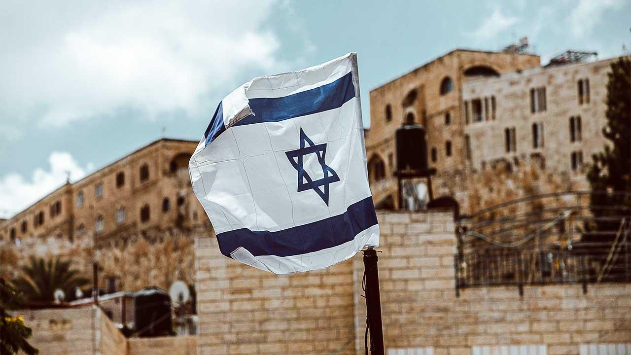 Israel-Flagge in Jerusalem