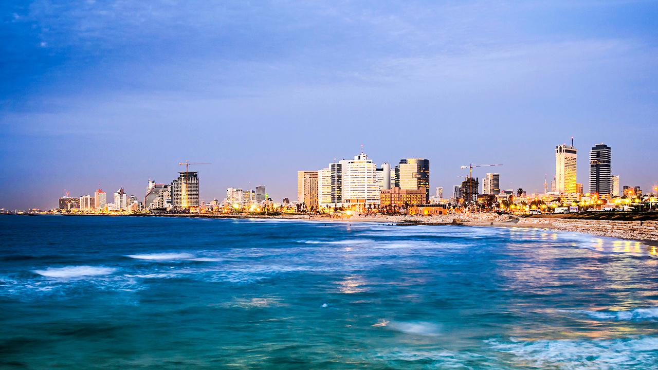 Silhouette von Tel Aviv