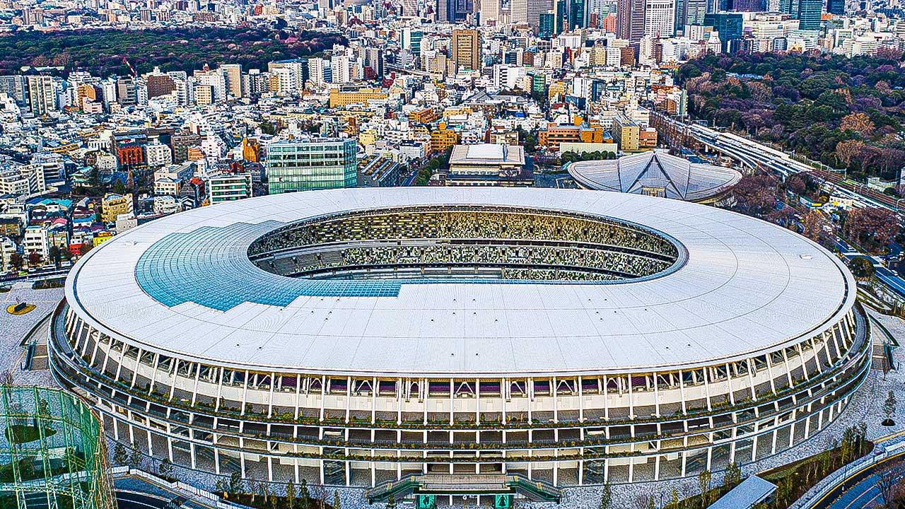 Nationalstadion in Tokio, Japan