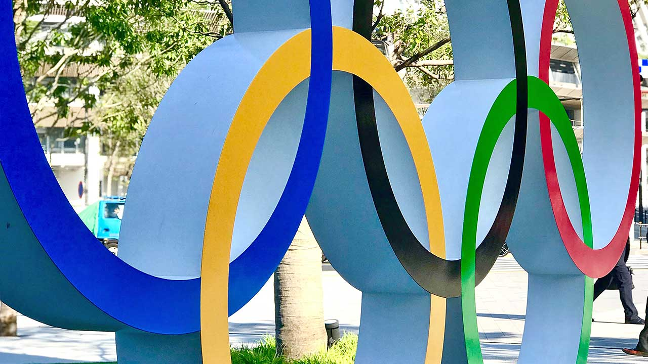 Olympische Ringe in Tokio, Japan