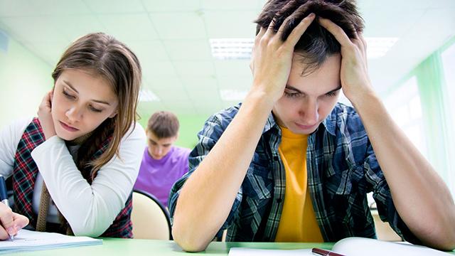 Jugendliche in der Schule