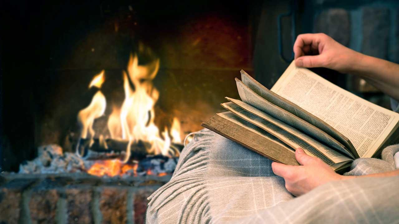 In aller Gemütlichkeit ein Buch lesen