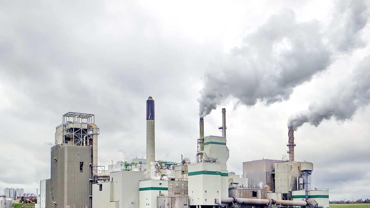Emissionen einer Fabrik in St. John, Kanada
