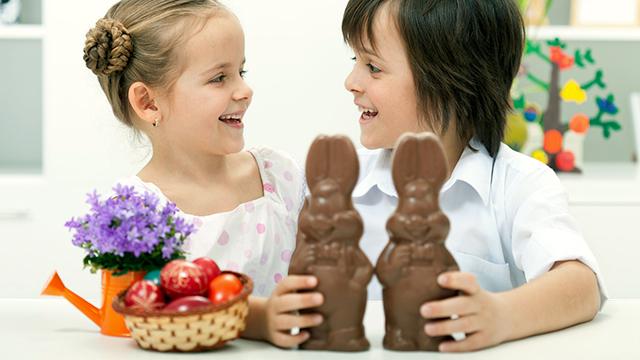 Freude an den Schokoladehasen (c) 123rf