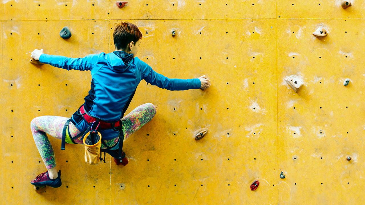 Risiko an der Kletterwand