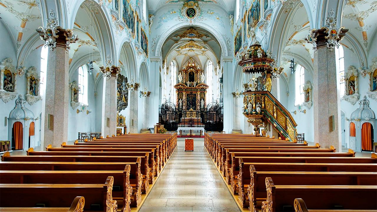 Inneres der Klosterkirche Mariastein