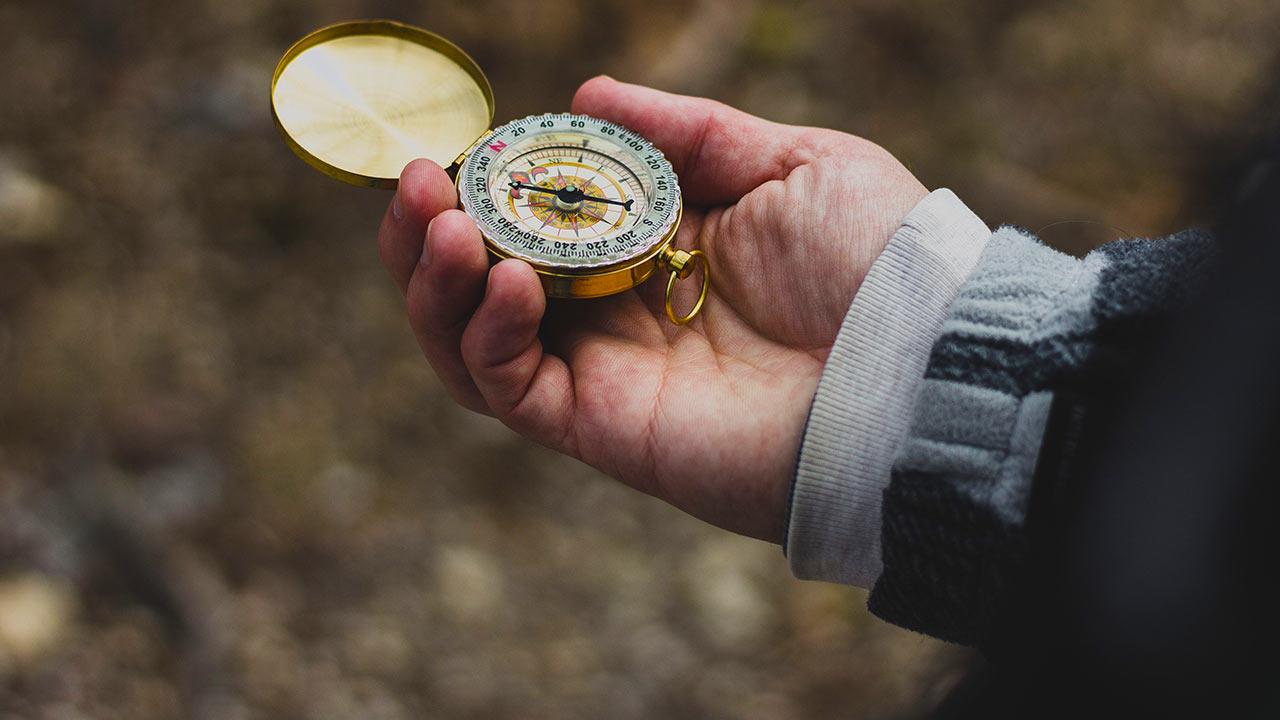 Wege finden mit Kompass