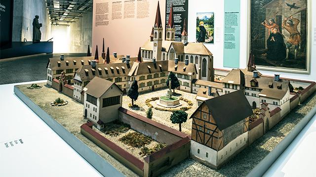 Modell des Klosters Einsiedeln