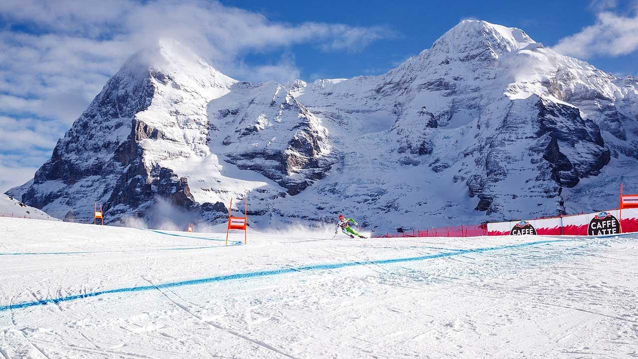 Panoramakurve des Lauberhornrennens