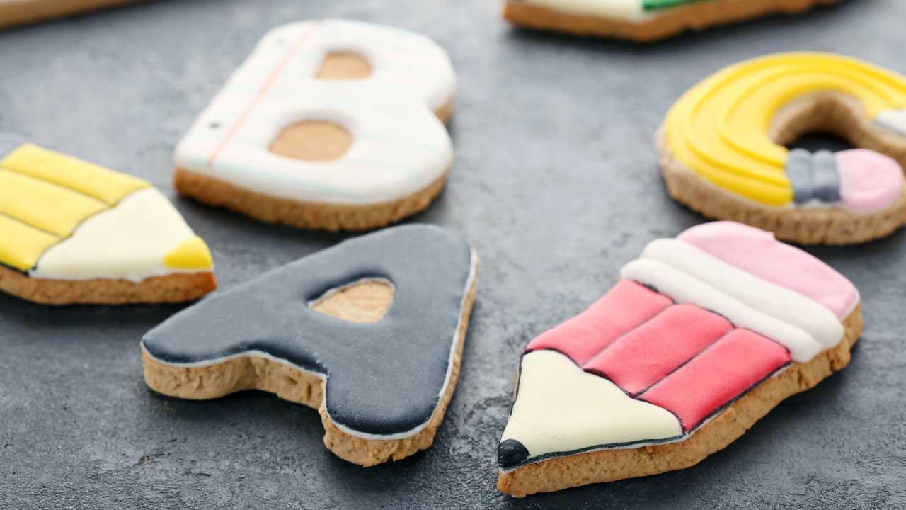 Lebkuchen in Buchstabenform