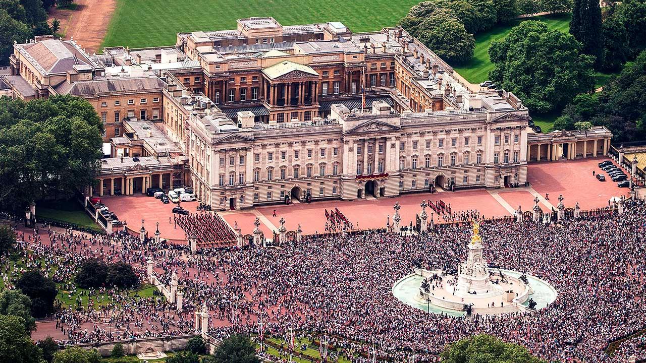 Vogelperspektive Buckingham Palace 2016