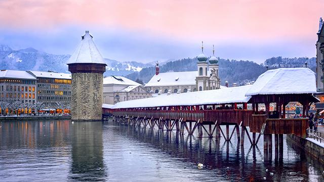 Luzern mit Schnee