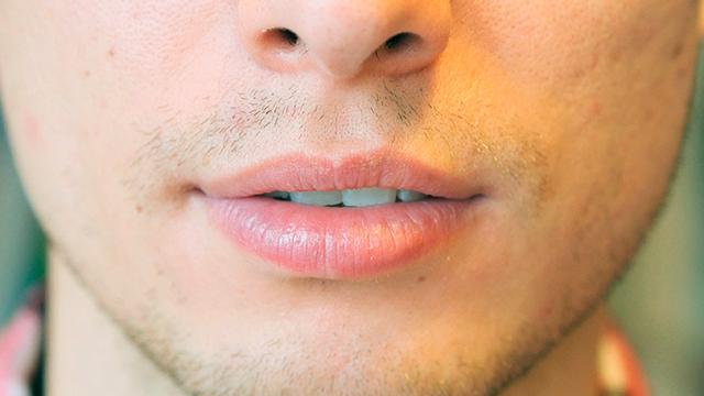 Lippen eines Mannes (c) 123rf