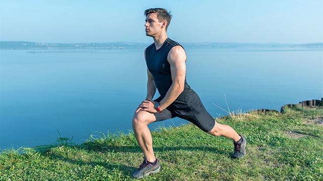 Mit Stretching den Muskel dehnen