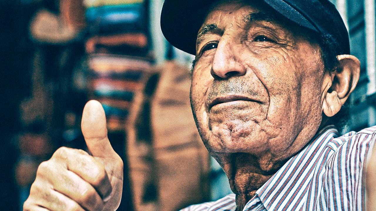 Älterer Mann in Tanger, Marokko