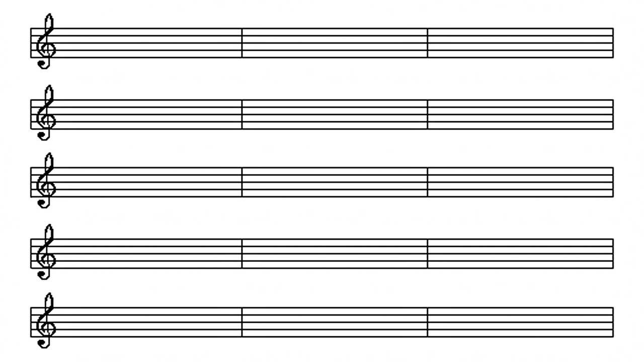 Leeres Notenblatt symbolisiert fehlenden Gesang oder Beginn einer neuen Komposition