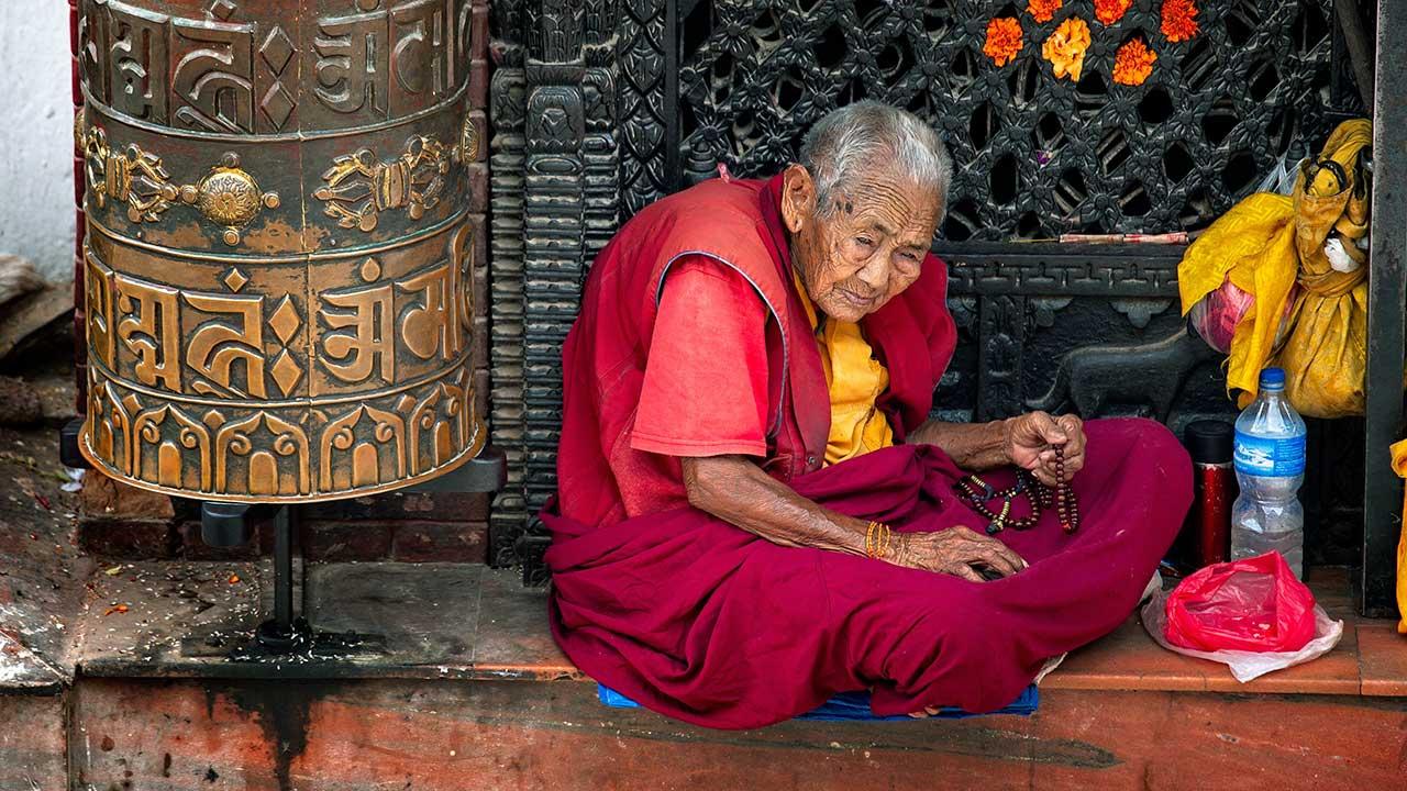 Buddhistin in Kathmandu, Nepal