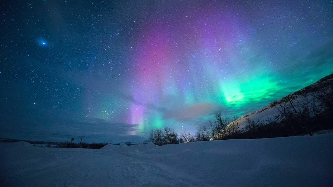 Nordlicht in Tromso, Norwegen