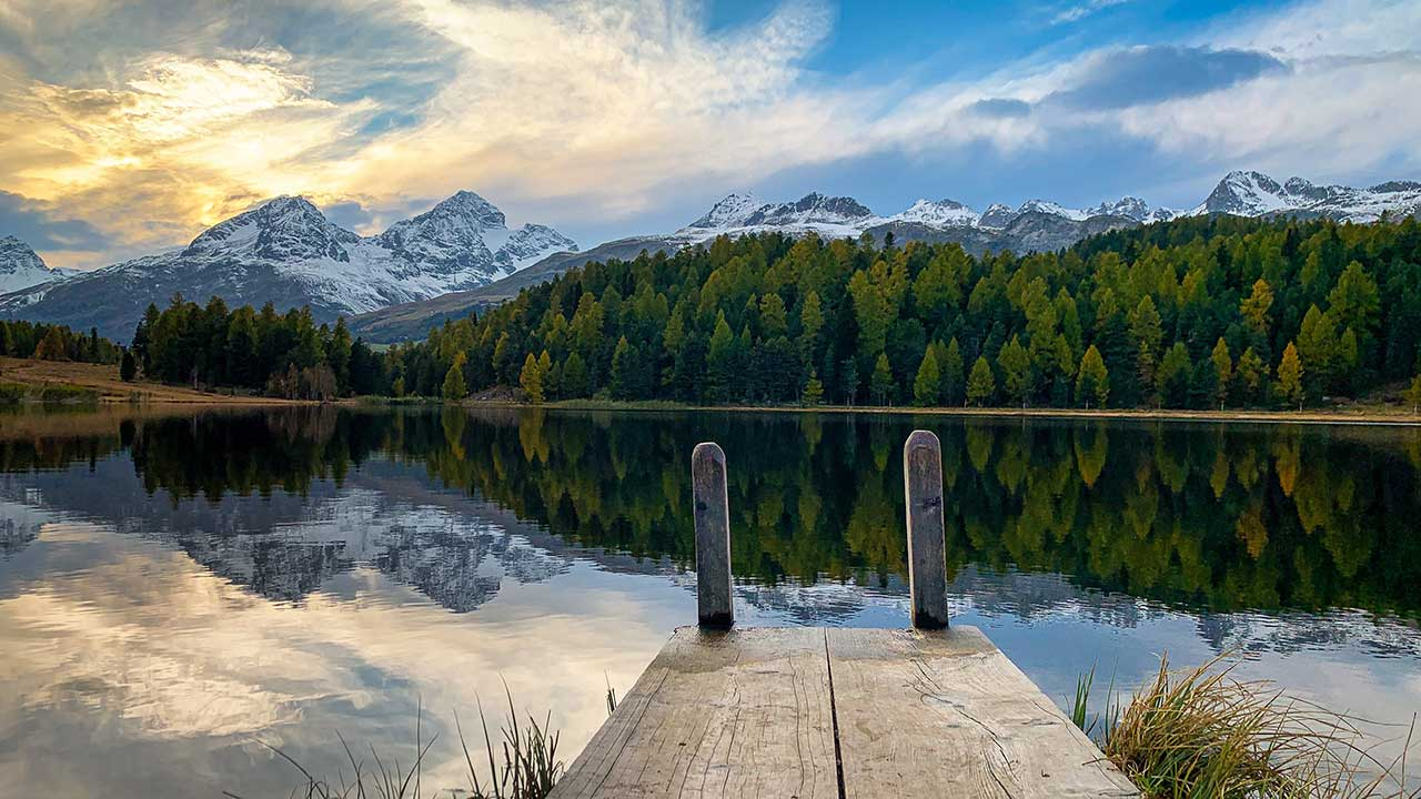Lej da Staz bei St. Moritz im Oberengadin