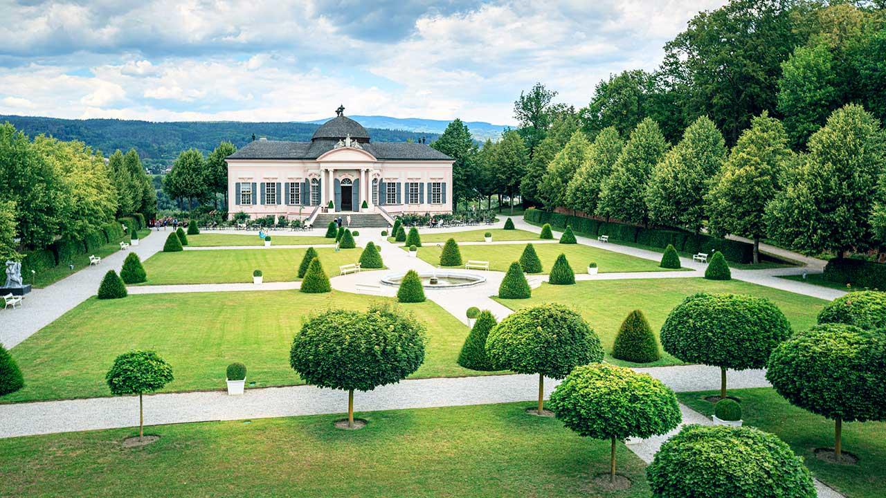 Klosterpark des Stifts Melk in Niederösterreich
