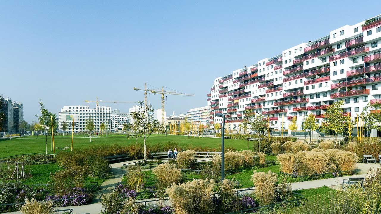 Wiener Nordbahnviertel mit Rudolf-Bednar-Park
