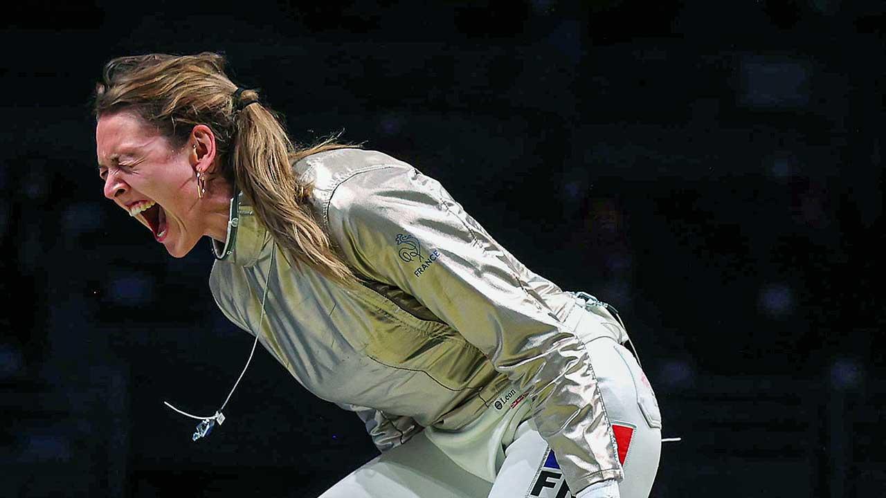 Fechterin Manon Brunet an den Olympischen Sommerspielen 2021