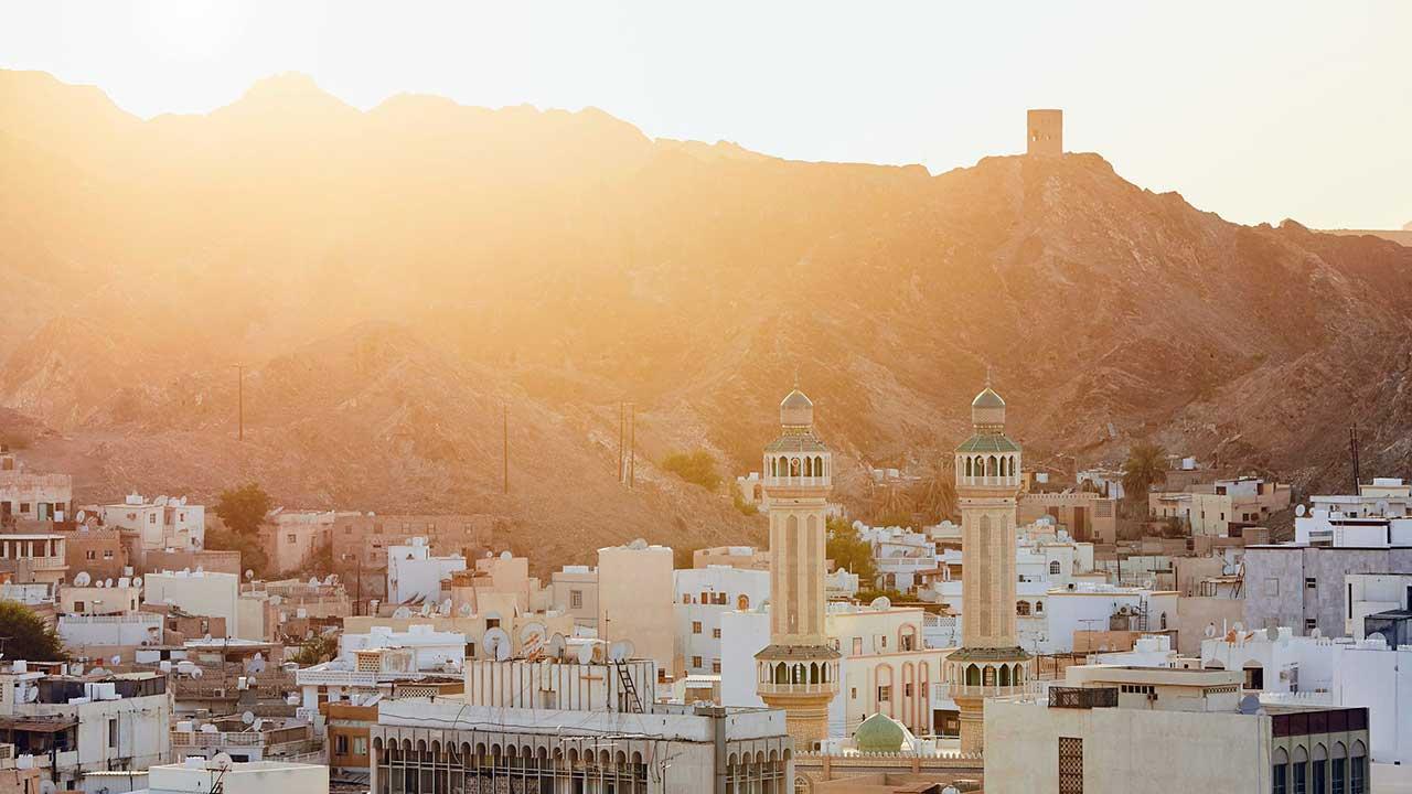 Sonnenuntergang in Muskat, Oman