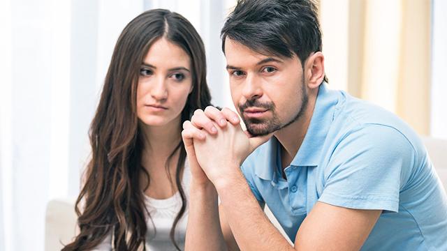 Paar in Konfliktsituation