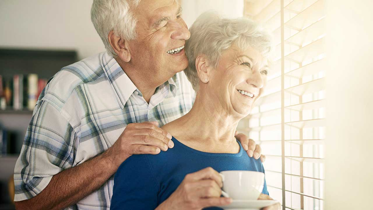 Glücklich nach einer langen Ehe