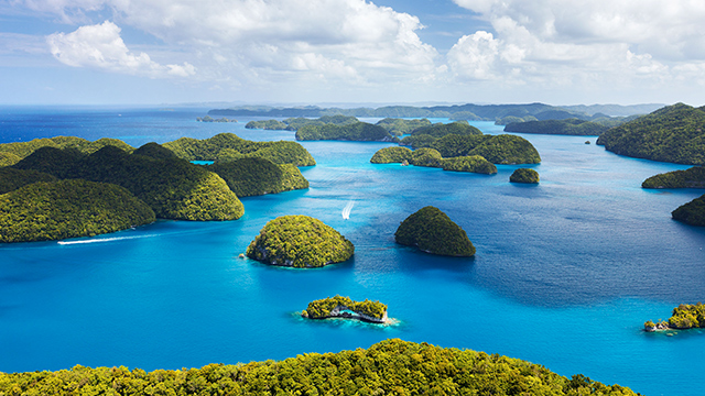 Einige Inseln von Palau