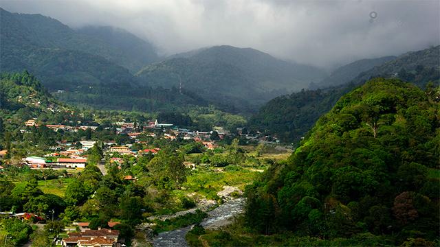 Dorf im Hochland von Panama