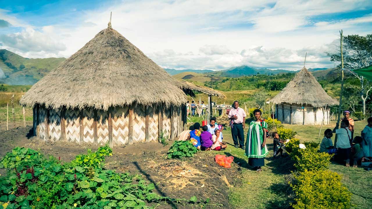 Dorf in Papua-Neuguinea