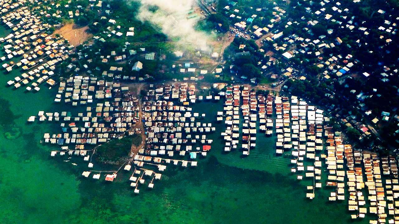 Port Moresby, Papua-Neuguinea aus der Vogelperspektive