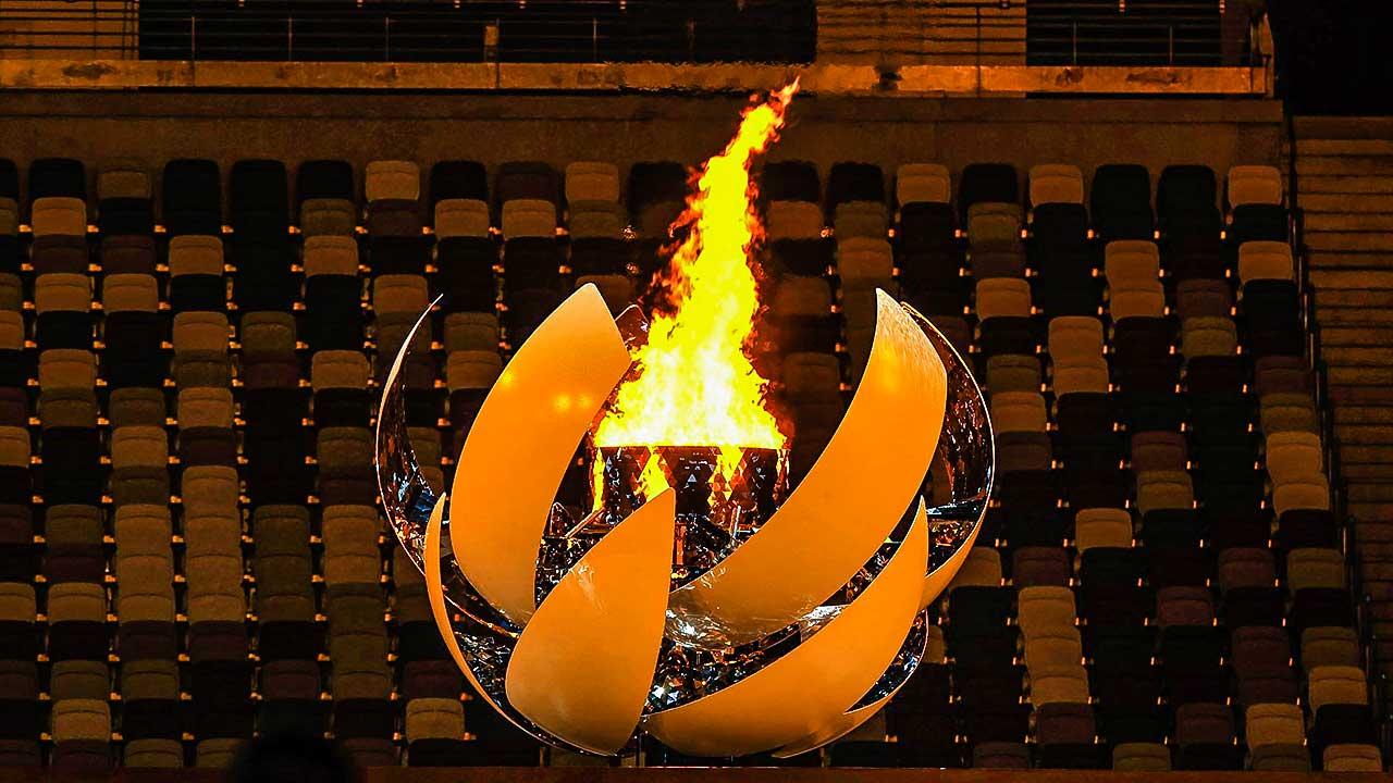 Flamme bei der Eröffnungsfeier der Paralympic Games in Tokio