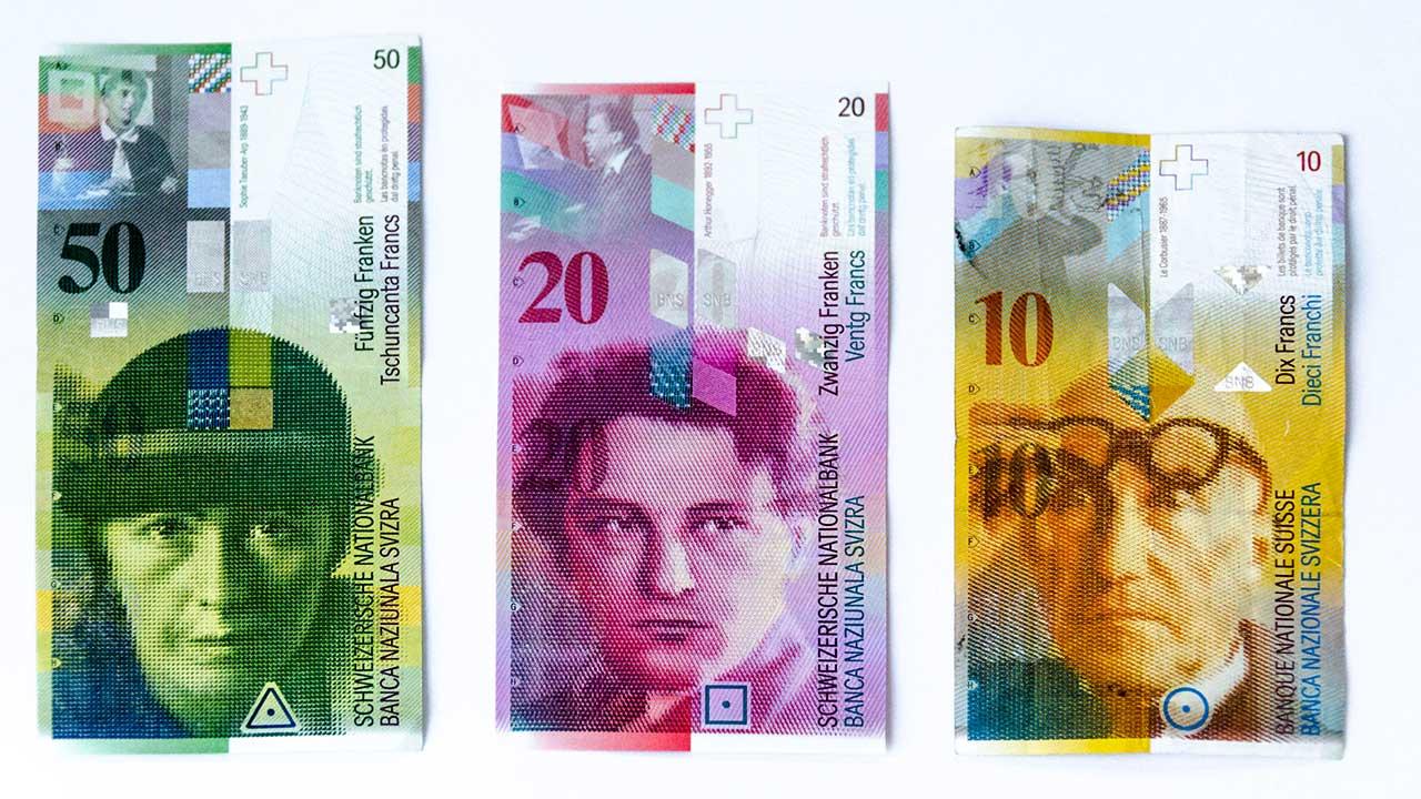Schweizer Banknoten der achten Serie