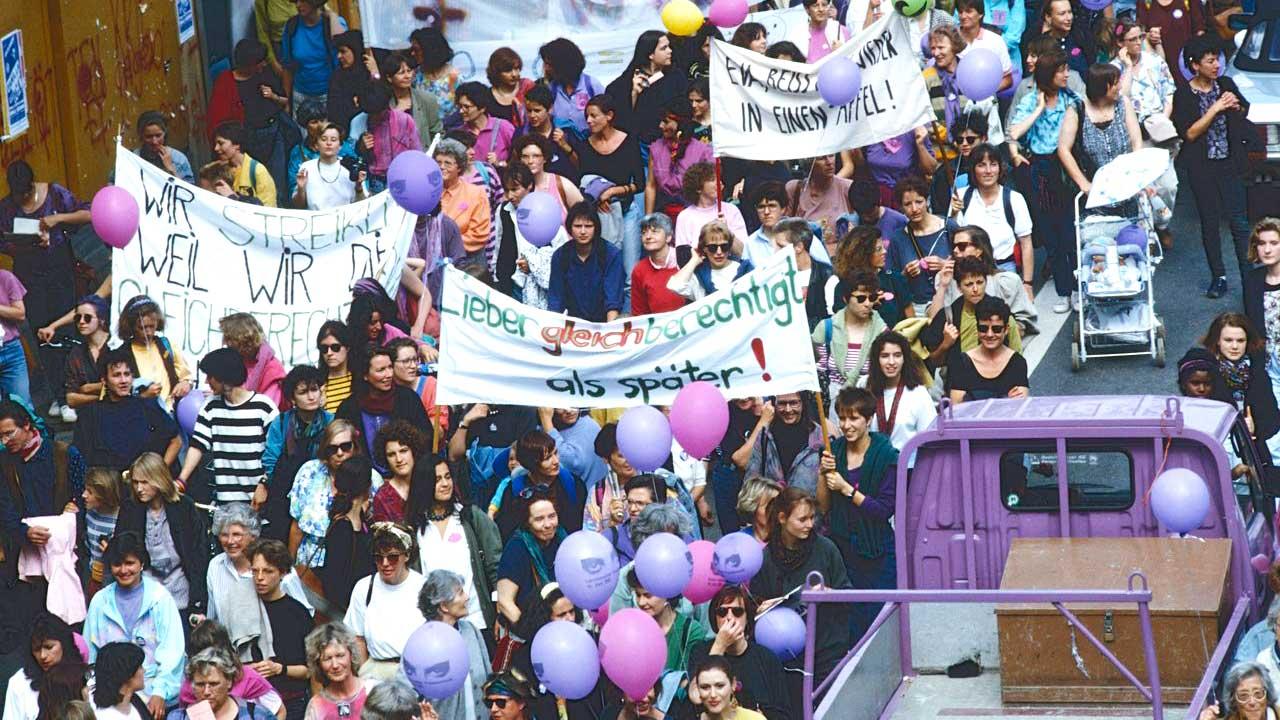 Schweizer Frauenstreik 1991: Kundgebung in Zürich