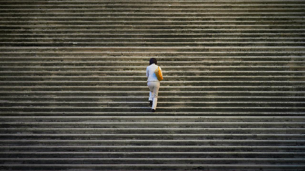 Schwierigkeiten überwinden, Schritt für Schritt
