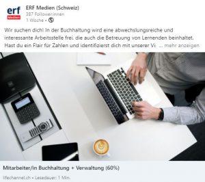 Die Welt von ERF Medien auf den Social Medias